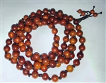 Dragon Blood Wood Knotted 108 Bead Mala Prayer Beads - 8mm (1 Pack)