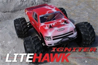LiteHawk IGNITER 2.4Ghz 4WD Truck Ready to Run Kit Red 285-48001R