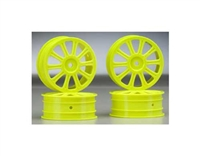 JConcepts Rulux 1:10 Buggy Wheel B44 Front 4pcs Yellow 3307Y