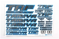 Tamiya TRF Sticker C Blue Border Mirror Finish 42237