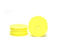 Tamiya DB01 Front Dish Wheels Fluorescent Yellow 54286