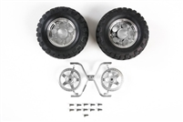 Tamiya Rock Block Tires with 2 Piece 5 Spoke Wheels CC01 54554