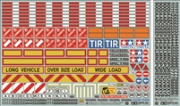 Tamiya Sticker Set for 1/14 Scale R/C Truck & Trailer 56534