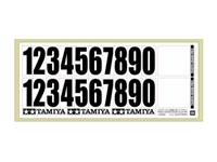 Tamiya 66976 General-Use Number Stickers Decals