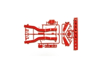 Tamiya 84350 RC WR02 F Parts Frame RED WR02 Wild Willy 2 Jimny