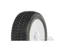 PRO-LINE Caliber M3 Soft Off-Road 1:8 Buggy Tires Mounted on V2 White Wheels 2pcs 9030-32