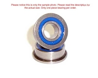 APS Dual Rubber Sealed Ball Bearings 1/4x3/8 Flanged APS1438RSF