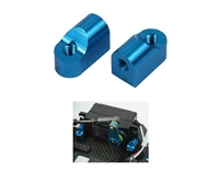 Yeah Racing Aluminum Servo Mount Set Blue FF03-039BU