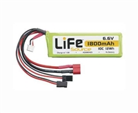 Hobbico LiFe 6.6V 1800mAh 10C Receiver Battery Pack HCAM6425