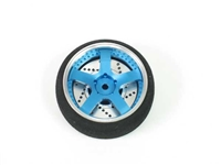 JAAD 40mm 5 Spoke Aluminum TX Wheel for 3PK Blue JDRTWFU02BL