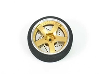 JAAD 40mm 5 Spoke Aluminum TX Wheel for M8 / M11 Gold JDRTWSW02GO
