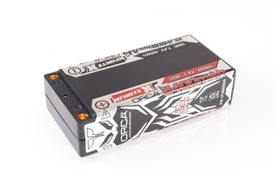 ORCA INFINITE X 5400MAH 130C Shorty 7.4V LP18IN2S54S