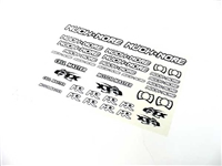 Muchmore RACING Logo Decal White & Black MR-WBS