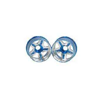 3Racing Aluminum Rear Rim 5 Spoke 2 Tones ± 0 Offset Light Blue Color for Mini-Z Chassis MR02-RP00/LB