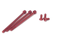 ORCA NON-MAGNETIC 7075 ALUMINUM MOTOR SCREW SET RED FOR BLITREME/RT/RT-S
