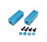 Yeah Racing Alloy Servo Mount Blue for all 1:8 & 1:10 scale cars SER-041BU