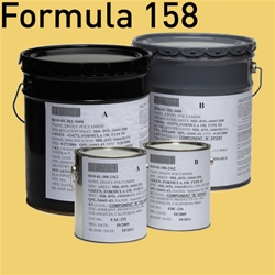 Fed STD 595 color 23695 (Yellow) for MIL-DTL-24441 Formula 158, Type III and Type IV