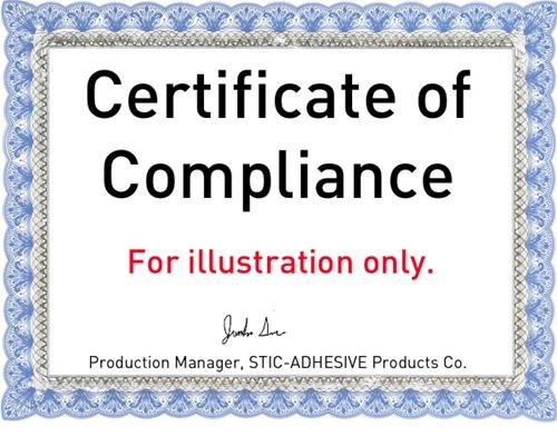 Certificate of Compliance – Certificate of Compliance Template