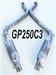 "GP250C3 2015-17 Challenger 3.6 - Charger/300 3.6L/5.7L w/true duals 2.5"" Louvered Glass Pack axle-back"
