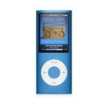 "Apple iPod Nano 16GB 4th Generation MB905LL/A Blue - Flash Portable Media Player - Audio Player, Video Player, Photo Viewer - 2"" Color LCD - 16GB Flash Memory"