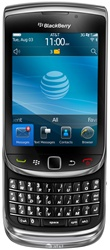 RIM Blackberry Torch 9800 AT&T Unlocked QuadBand GPS WiFi HSDPA Cellular Phone - 850/1900/2100MHz WCDMA, Touchscreen, 5MP Camera, 3.5 mm audio jack, QWERTY Keyboard, Optical Trackpad, BlackBerry OS 6.0