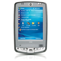 "HP iPAQ Pocket PC hx2490c - Windows Mobile 5.0 Premium Edition - PXA270 520 MHz - RAM: 64 MB - ROM: 512 MB 3.5"" TFT ( 240 x 320 ) - IrDA, Bluetooth, 802.11b FB101AA#ABA"
