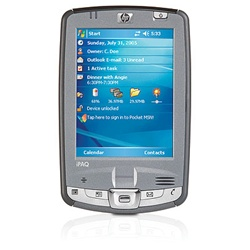 "HP iPAQ Pocket PC hx2790c - Windows Mobile 5.0 Premium Edition - PXA270 624 MHz - RAM: 64 MB - ROM: 512 MB 3.5"" TFT ( 240 x 320 ) - fingerprint - IrDA, Bluetooth, 802.11b FB103AA#ABA"