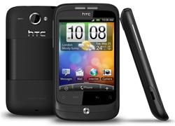 "HTC Wildfire A3333 Unlocked QuadBand GPS WiFi HSDPA Cellular Phone Black - 900/2100MHz WCDMA, 3.2"" capacitive Display, Multi-touch, 5MP Camera, Digital Compass, FM Radio, 3.5 mm audio jack, Android OS, v2.1 Eclair"