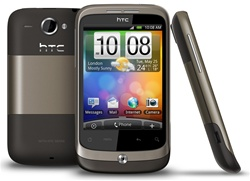 "HTC Wildfire A3333 Unlocked QuadBand GPS WiFi HSDPA Cellular Phone Brown - 900/2100MHz WCDMA, 3.2"" capacitive Display, Multi-touch, 5MP Camera, Digital Compass, FM Radio, 3.5 mm audio jack, Android OS, v2.1 Eclair"