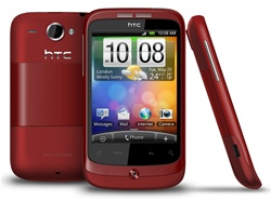 "HTC Wildfire A3333 Unlocked QuadBand GPS WiFi HSDPA Cellular Phone Red - 900/2100MHz WCDMA, 3.2"" capacitive Display, Multi-touch, 5MP Camera, Digital Compass, FM Radio, 3.5 mm audio jack, Android OS, v2.1 Eclair"