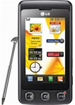 LG KP500 Cookie Unlocked QuadBand 3.15MP Camera Cellular Phone Black - EDGE, FM Radio, Touchscreen