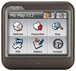 "Mio DigiWalker C230 Portable Automotive GPS Navigator - SiRFstarIII - 3.5"" TFT - 320 x 240 - Color"