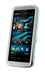 Nokia 5530 XpressMusic Unlocked QuadBand Touch Screen Cellular Phone Blue on White - EDGE, 3.2MP Camera, FM Radio, Symbian S60