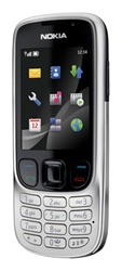 Nokia 6303 Slide Unlocked TriBand Cellular Phone Silver - EDGE, 3.2MP Camera, FM Radio