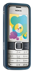 Nokia 7310 Supernova Slide Unlocked TriBand Cellular Phone Blue - EDGE, 2MP Camera, FM Radio, TV Out