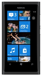 "Nokia Lumia 800 Unlocked QuadBand GPS WiFi HSDPA Cellular Phone Sea Ray Black - 850/900/1900/2100MHz WCDMA, 3.7"" AMOLED Display, Gorilla glass, 8MP Camera, Carl Zeiss, HD Video 720p, Digital compass, Snapdragon, Microsoft Windows Phone 7.5 Mango"