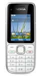"Nokia C2-01 Unlocked QuadBand HSDPA Cellular Phone White - 900/2100MHz WCDMA, 2.0"" Display, 3.15MP Camera, FM Radio"