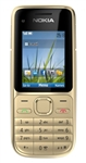 "Nokia C2-01 Unlocked QuadBand HSDPA Cellular Phone Warm Silver - 900/2100MHz WCDMA, 2.0"" Display, 3.15MP Camera, FM Radio"