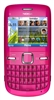"Nokia C3 Unlocked QuadBand WiFi Cellular Phone Hot Pink - 2.4"" Display, QWERTY keyboard, 2MP Camera, FM Radio"