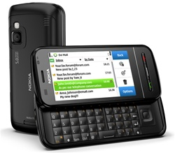 "Nokia C6 Unlocked QuadBand GPS WiFi HSDPA Cellular Phone Black - 850/900/1900/2100MHz WCDMA, 3.2"" Display, 5MP Camera, QWERTY keyboard, FM Radio, 3.5 mm audio jack, Symbian S60"