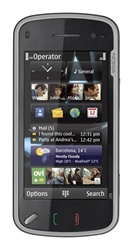 "Nokia N97 32GB Unlocked QuadBand GPS WiFi HSDPA 5MP Camera Cellular Phone Black - 900/1900/2100MHz WCDMA, FM Radio, Carl Zeiss Optics, Symbian, 3.5"" Touchscreen, QWERTY Keyboard, Digital Compass, TV Out"