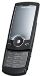 Samsung U600 Unlocked QuadBand 3.15MP Camera Cellular Phone Black - EDGE, FM Radio, TV Out