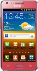 "Samsung i9100 Galaxy S II 16GB Unlocked QuadBand GPS HSDPA WiFi Cellular Phone Pink - 850/900/1900/2100MHz WCDMA, 4.3"" Super AMOLED, Dual-core ARM, 8MP Camera, 1080p HD Video, Accelerometer, LED Flash, FM Radio, NFC, TV-Out, Android OS v2.3 Gingerbread"