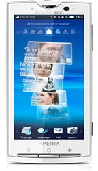 "Sony Ericsson XPERIA X10 Unlocked QuadBand GPS WiFi HSDPA Cellular Phone X10i White - 900/1900/2100MHz WCDMA, 4.0"" capacitive Display, Accelerometer, 8MP Camera, 3.5 mm audio jack, Snapdragon, Timescape/Mediascape UI, Android OS v1.6"