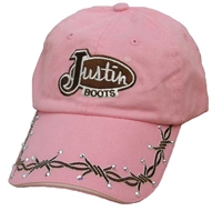 Girls Justin Boots® Pink Barbwire Cap