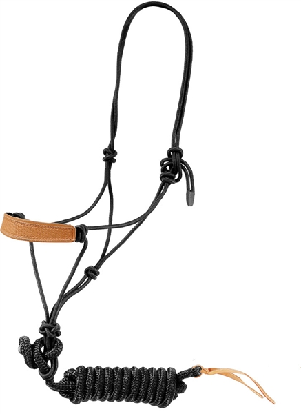 Mustang 174 Leather Nose Rope Halter Amp Lead