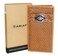Ariat® Mens Southwestern Concho Rodeo Wallet