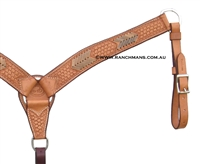SRS® Contoured Basket Stamp Team Roper Breast Collar