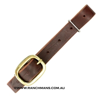 "Ranchman's 1"" Leather Back Cinch Connector Strap"
