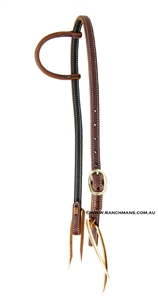 Ranchmans Sliding One Ear Stitched Harness Bridle